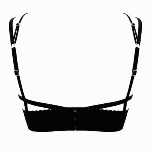 BUSTIER LUCY noir arrière - Scène Discrète