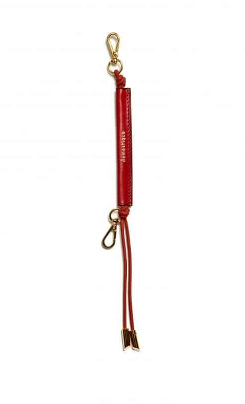 Porte-clés en cuir rouge - Scène Discrète