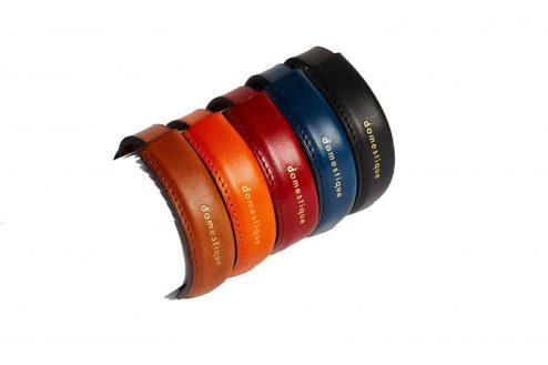 Bracelets estampillé en cuir - Scène Discrète