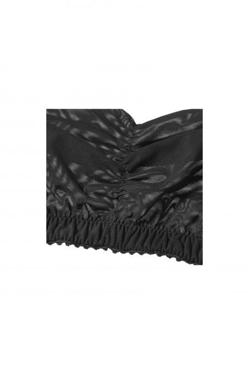 Soutien-gorge bandeau noir détail - Scène Discrète