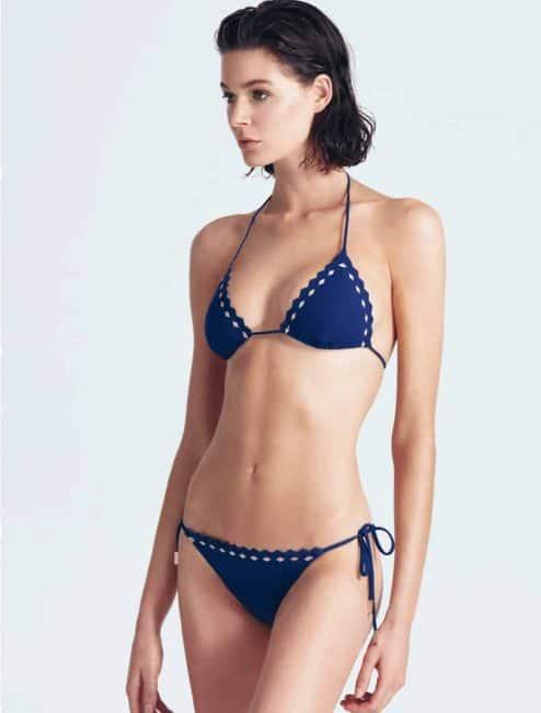 "Bikini bleu marine ""PATTI"" avant"