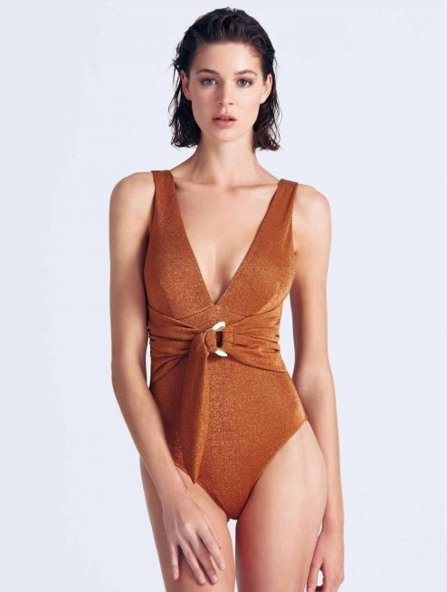 Maillot orange brillant avant