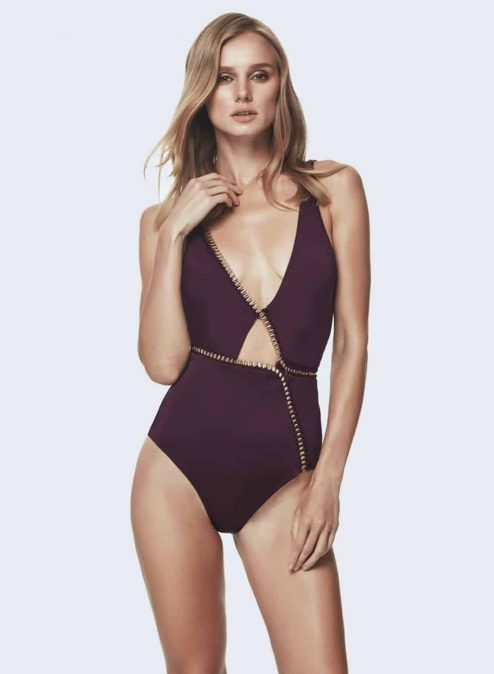 "Maillot prune ""CLAIRE"""