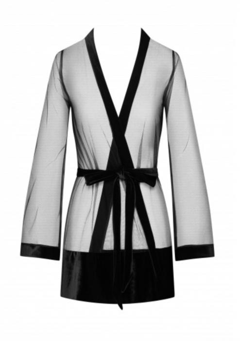 Kimono en tulle et velours avant